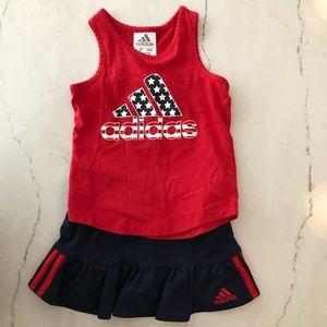 Adidas Girls Skirt/tank outfit